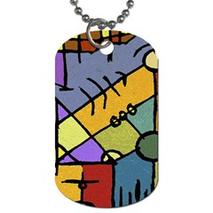 Multicolored Tribal Pattern Print Dog Tag (two Sided)