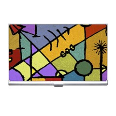 Multicolored Tribal Pattern Print Business Card Holder