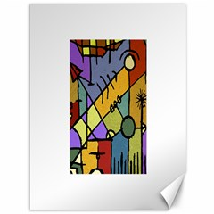 Multicolored Tribal Pattern Print Canvas 36  x 48  (Unframed)