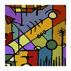 Multicolored Tribal Pattern Print Glasses Cloth (Medium, Two Sided)