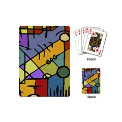 Multicolored Tribal Pattern Print Playing Cards (mini)