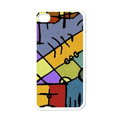 Multicolored Tribal Pattern Print Apple Iphone 4 Case (white)