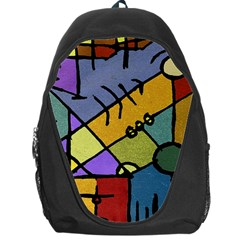 Multicolored Tribal Pattern Print Backpack Bag