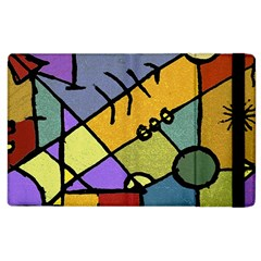Multicolored Tribal Pattern Print Apple Ipad 2 Flip Case