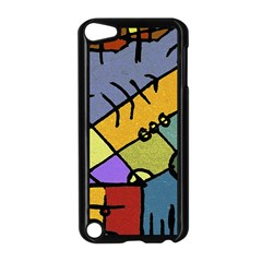 Multicolored Tribal Pattern Print Apple iPod Touch 5 Case (Black)
