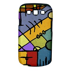 Multicolored Tribal Pattern Print Samsung Galaxy S III Classic Hardshell Case (PC+Silicone)