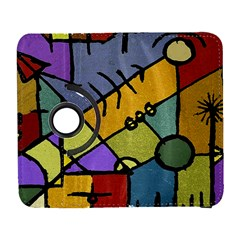 Multicolored Tribal Pattern Print Samsung Galaxy S  III Flip 360 Case