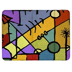 Multicolored Tribal Pattern Print Samsung Galaxy Tab 7  P1000 Flip Case