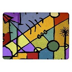 Multicolored Tribal Pattern Print Samsung Galaxy Tab 10.1  P7500 Flip Case