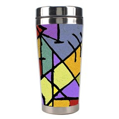 Multicolored Tribal Pattern Print Stainless Steel Travel Tumbler