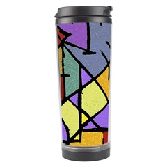 Multicolored Tribal Pattern Print Travel Tumbler