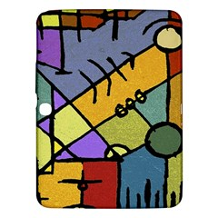 Multicolored Tribal Pattern Print Samsung Galaxy Tab 3 (10.1 ) P5200 Hardshell Case