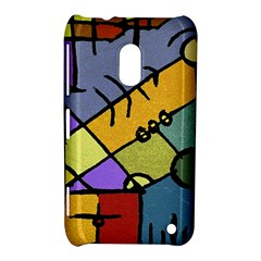 Multicolored Tribal Pattern Print Nokia Lumia 620 Hardshell Case