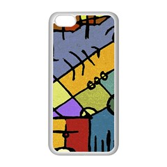 Multicolored Tribal Pattern Print Apple iPhone 5C Seamless Case (White)
