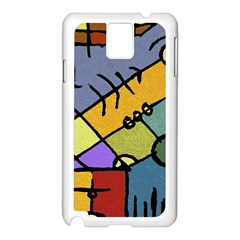 Multicolored Tribal Pattern Print Samsung Galaxy Note 3 N9005 Case (white)