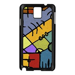 Multicolored Tribal Pattern Print Samsung Galaxy Note 3 N9005 Case (Black)