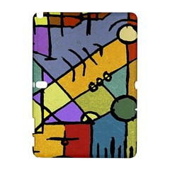 Multicolored Tribal Pattern Print Samsung Galaxy Note 10.1 (P600) Hardshell Case