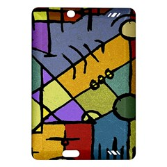 Multicolored Tribal Pattern Print Kindle Fire HD (2013) Hardshell Case