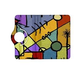 Multicolored Tribal Pattern Print Kindle Fire HD (2013) Flip 360 Case