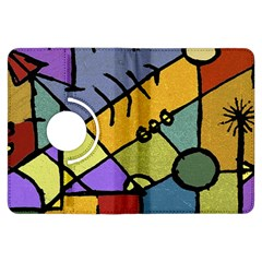 Multicolored Tribal Pattern Print Kindle Fire HDX Flip 360 Case