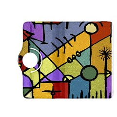 Multicolored Tribal Pattern Print Kindle Fire Hdx 8 9  Flip 360 Case
