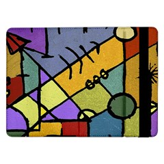 Multicolored Tribal Pattern Print Samsung Galaxy Tab Pro 12.2  Flip Case