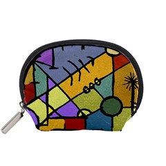 Multicolored Tribal Pattern Print Accessory Pouch (small)
