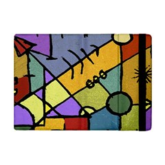Multicolored Tribal Pattern Print Apple iPad Mini 2 Flip Case