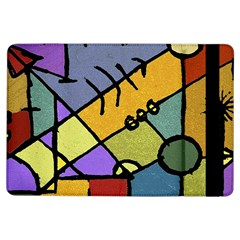 Multicolored Tribal Pattern Print Apple iPad Air Flip Case
