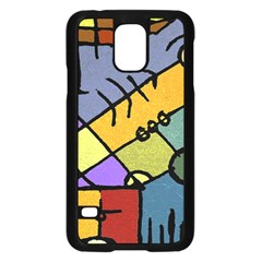 Multicolored Tribal Pattern Print Samsung Galaxy S5 Case (Black)