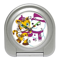 Winter Time Zoo Friends   004 Desk Alarm Clock