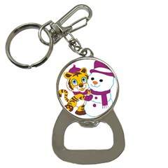 Winter Time Zoo Friends   004 Bottle Opener Key Chain