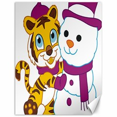 Winter Time Zoo Friends   004 Canvas 12  x 16  (Unframed)