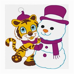 Winter Time Zoo Friends   004 Glasses Cloth (Medium, Two Sided)