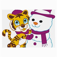 Winter Time Zoo Friends   004 Glasses Cloth (Large, Two Sided)