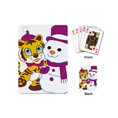 Winter Time Zoo Friends   004 Playing Cards (mini)
