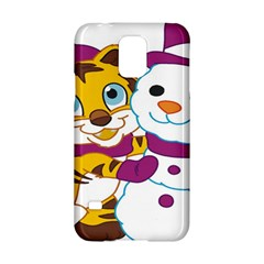 Winter Time Zoo Friends   004 Samsung Galaxy S5 Hardshell Case