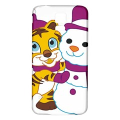 Winter Time Zoo Friends   004 Samsung Galaxy S5 Back Case (white)