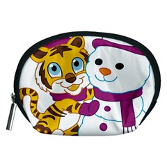 Winter Time Zoo Friends   004 Accessory Pouch (Medium)