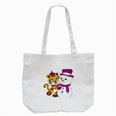 Winter Time Zoo Friends   004 Tote Bag (white)