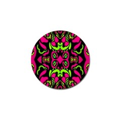 Psychedelic Retro Ornament Print Golf Ball Marker 4 Pack