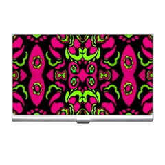 Psychedelic Retro Ornament Print Business Card Holder