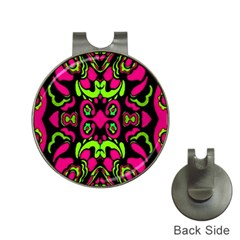 Psychedelic Retro Ornament Print Hat Clip With Golf Ball Marker