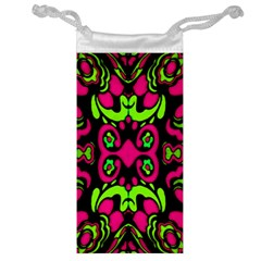 Psychedelic Retro Ornament Print Jewelry Bag
