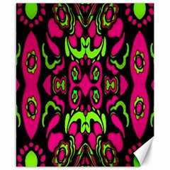 Psychedelic Retro Ornament Print Canvas 8  X 10  (unframed)