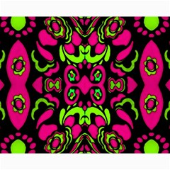 Psychedelic Retro Ornament Print Canvas 16  X 20  (unframed)