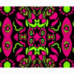 Psychedelic Retro Ornament Print Canvas 20  X 20  (unframed)