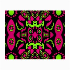 Psychedelic Retro Ornament Print Glasses Cloth (small, Two Sided)