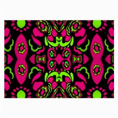 Psychedelic Retro Ornament Print Glasses Cloth (Large, Two Sided)