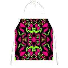 Psychedelic Retro Ornament Print Apron